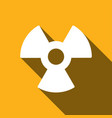 radiation symbol with a long shadow vector image vector image