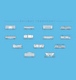 railway transport concept line style icons vector image