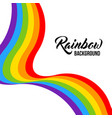 rainbow background lgbt colors vector image vector image