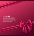 realistic purple bow with ribbon vector image