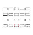 rectangle frames border set in vintage style vector image