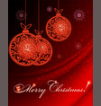 red background with christmas balls vector image vector image
