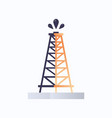 rig drilling platform gusher icon oil industry vector image