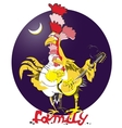 rooster symbol of 2017 on the vector image vector image