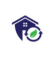 safe recycle home icon vector image vector image