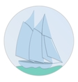 Sailboat paper flat design vector image vector image