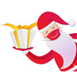 santa claus with medical mask on white background vector image vector image