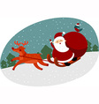 Santa with huge sack vector image