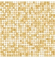 Seamless background with shiny golden paillettes vector image vector image