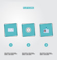 set of job icons flat style symbols with badge vector image
