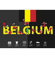 soccer players in action on belgium text vector image vector image