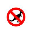 Stop kangaroo Forbidden marsupial Frozen vector image vector image