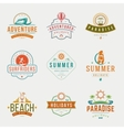 Summer Holidays Typography Labels or Badges vector image