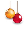 template of glass christmas ball stocking element vector image