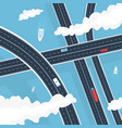 transport highway above water vector image
