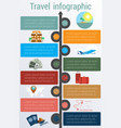 travel infographic template 8 positions vector image vector image