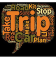 Trip Preps Seven Easy Steps To A Safer Road trip vector image vector image