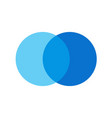 two overlapping circles design and marketing can vector image vector image