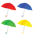 umbrella color vector image vector image