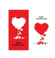Valentine card with heart shape for your design vector image