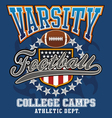 Varsity football college vector image vector image