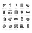 ventilation equipment glyph icons air vector image