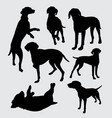 vizsla dog pet animal silhouette vector image vector image