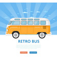 website design with classic retro bus vector image