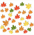 white background of colorful red yellow green vector image
