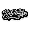 word september lettering vector image vector image