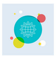 world globe seo business optimization white line vector image vector image