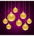 christmas violet background vector image