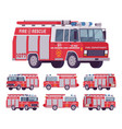 fire engine set vector image