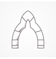 Flat line icon for arch vector image