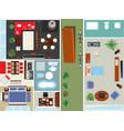 top view apartment interior set vector image