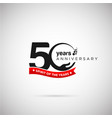 50 years anniversary logo with ribbon and hand vector image vector image