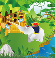 A mysterious jungle vector image