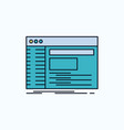admin console panel root software flat icon green vector image