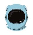 astronaut helmet equipment vector image vector image