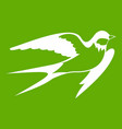 barn swallow icon green vector image
