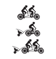 Bicycle Silhouette B vector image vector image
