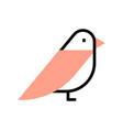 bird flatoutline vector image vector image