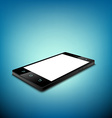 Black smartphone with white screen vector image vector image