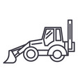 bulldozer line icon sign on vector image vector image