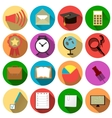 Business and school of icons vector image