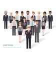 business men and women vector image vector image