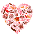 Candy heart vector image