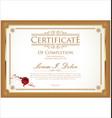 certificate 3 vector image vector image