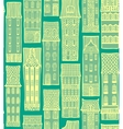city hand-drawn background with cute houses vector image vector image