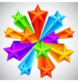 Color Stars Background vector image vector image